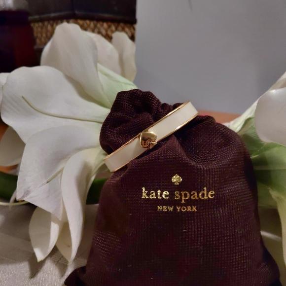 kate spade Jewelry - Kate Spade Cream Enamel Hinged Bracelet